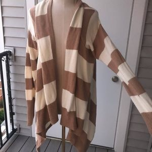 Mossimo Striped Waterfall Cardigan 5/$25